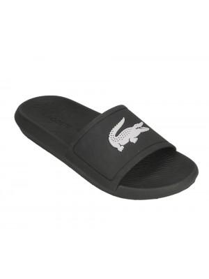 Sandales Lacoste Croco slide 119 1 CMA blk wht  737CMA001831291