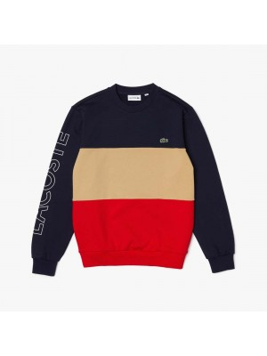 Sweatshirt Lacoste SH6904 1FE Navy Blue Viennese Red
