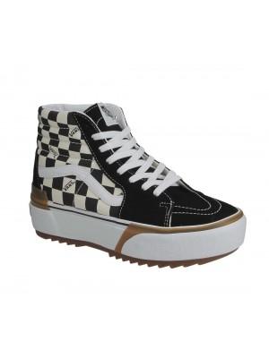 Basket Vans SK8 Hi Stacked Checkerboard Multi True White VN0A4BTWVLV1