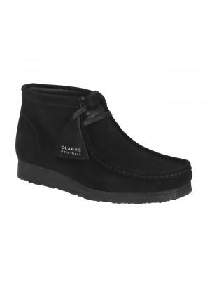 Bottines Clarks Originals Wallabee Boot black suede 26155517 7 065