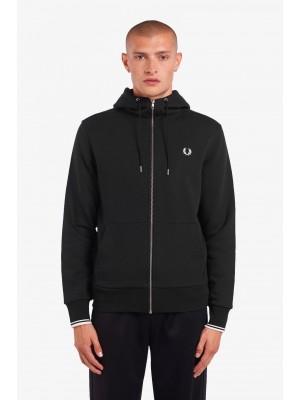 Sweatshirt Zippé Capuche Fred Perry J7536 198 Black