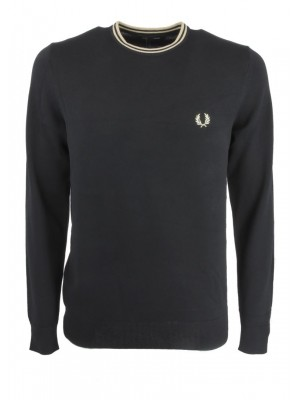 Fred Perry classic crew neck jumper K9601 102 black