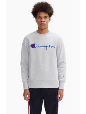 Sweatshirt Champion Europe crewneck big logo 212576 S19 EM004 LOXGM gris