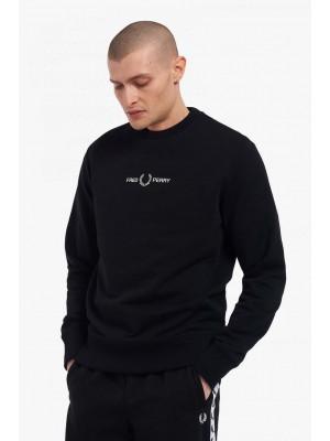 Sweatshirt Fred Perry Brodé  M2644 102 Noir