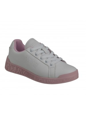 Basket Versace Jeans Couture Dame Penny Dis.Spi Bis White Pink E0Vwasp8 71957 003 Action Leather