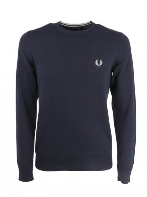 Fred Perry classic crew neck jumper K9601 608 navy