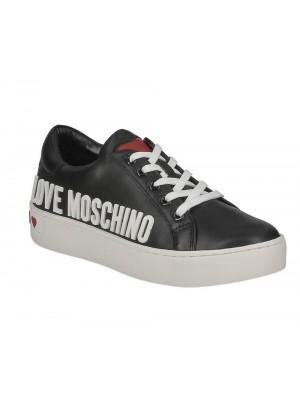 Love Moschino Sneakerd Cassetta 35 Vitello Nero