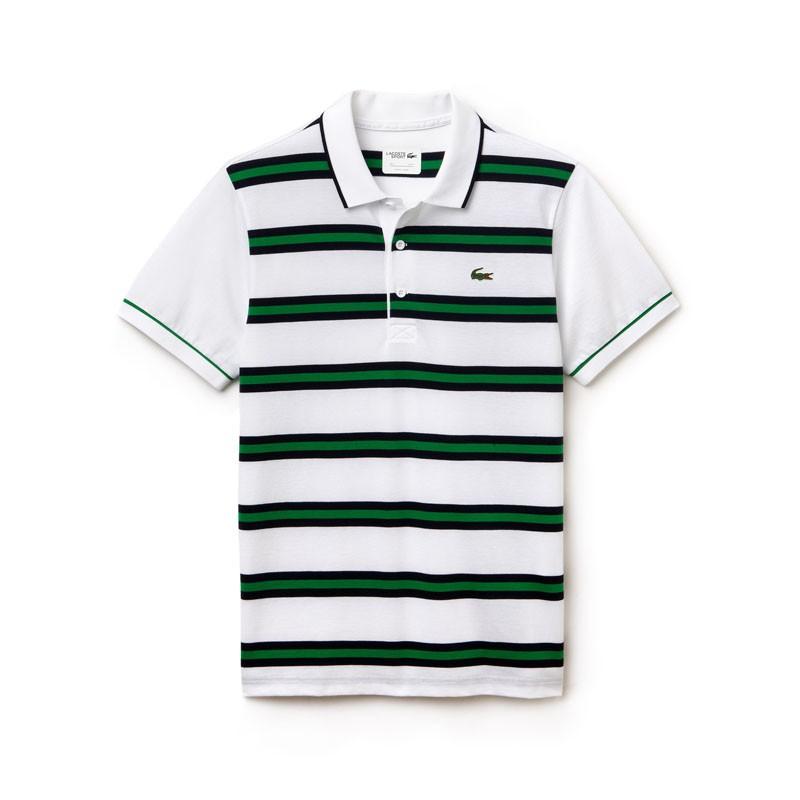 Polo Lacoste Blanc Et Vert morceauxdebois.fr c4c0ec365f53