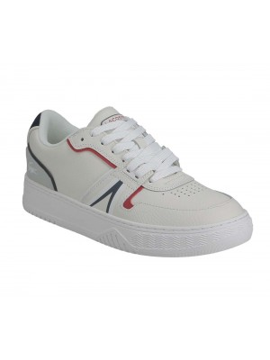 Basket Lacoste L001 0321 1 SMA Wht Nvy Red leather 7 42SMA0092407