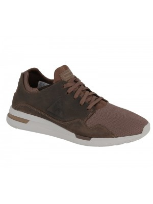 Le Coq Sportif LCS R Pure Pull Up Leather Mesh Reglisse Tan 1720238