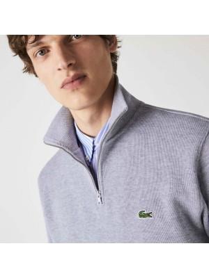Sweatshirt 1/2 zip Lacoste SH1927 CCA gris chiné