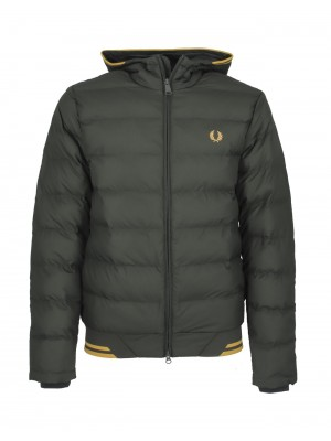 Blouson isolant à capuche Fred Perry J9535 408 hunting green