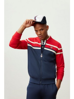Fila Naso jacket chinese red peacoat white  navy red LM161RM8 640