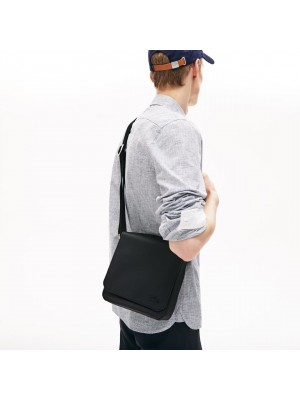 Sac Lacoste NH2341HC 000 black flap crossover bag