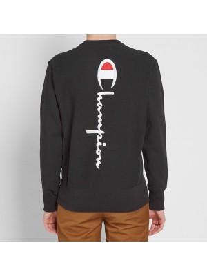 Sweatshirt Champion crewneck big logo in the back 212994 KK001 NBK reverse weave