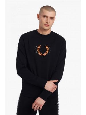 Sweatshirt Fred Perry Laurel Wreath M2646 102 Noir