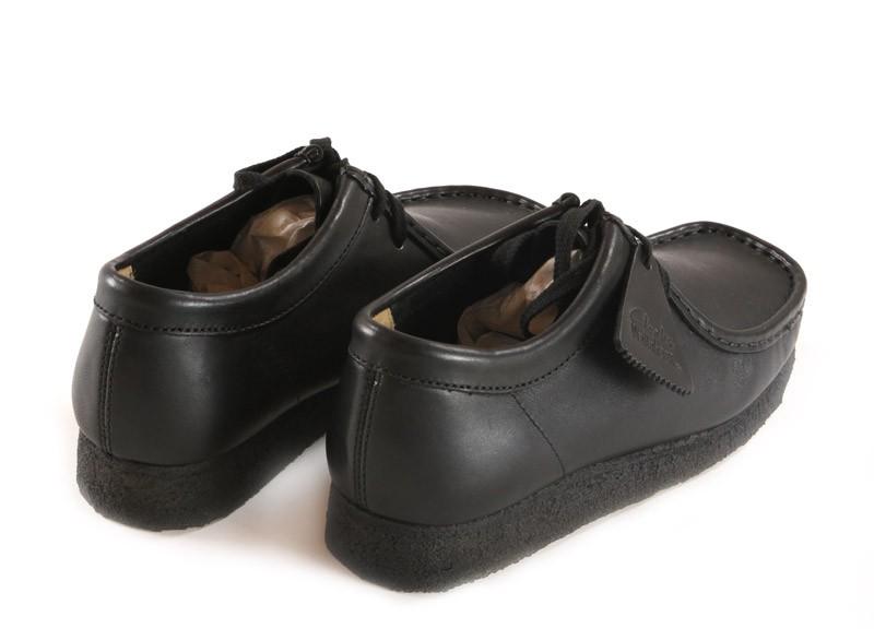 clarks originals wallabee black smooth leather