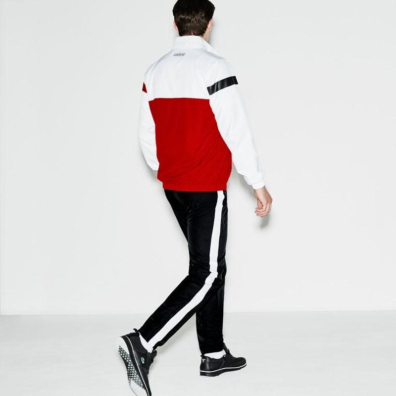 Veste lacoste rouge et blanche