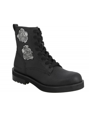 Bottines dame Calvin Klein Jeans Nebi grainy Black B4R1579