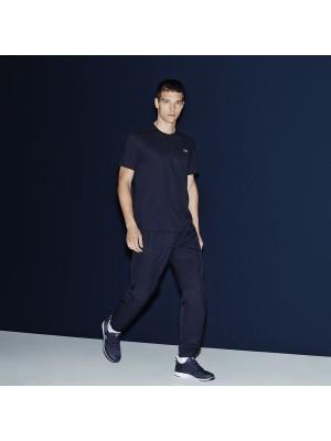 Pantalon survêtement uni bleu marine en taffetas