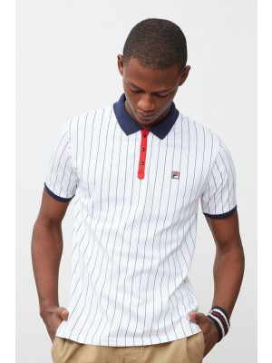 Polo Fila LM161RM5 100 vintage wht navy cred