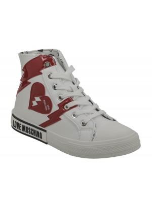 Basket dame Love Moschino Sneakerd.N Vulc25 Bianco JA15402G0BJA0100