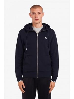 Sweatshirt Zippé Capuche Fred Perry J7536 795 Navy