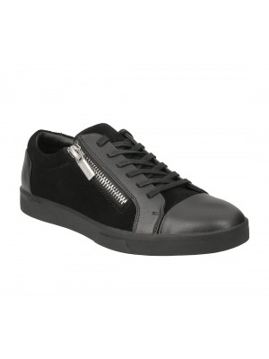 Calvin Klein Ibrahim brushed lea calf suede black F1197BLK