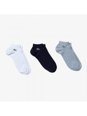 Lot de 3 paires de chaussettes Lacoste RA2105 5KC Silver chine Navy Blue White