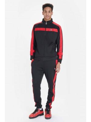 Fila Renzo Jacket stripe jacket black chinese red LM181L29 001
