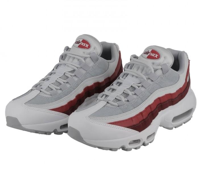 749766 106 Nike Air Max 95 Essential BlancheSolar Red