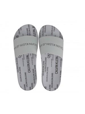 Sandale Calvin Klein Jeans Slide Institutional YM0YM00074 YAF Bright White