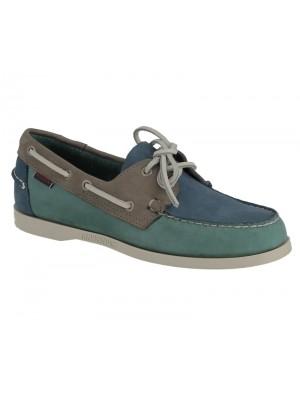 Sebago Docksides B720354 blue teal grey nbk