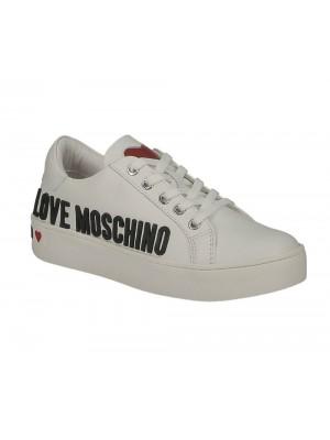 Love Moschino Sneakerd Cassetta 35 Vitello Bianco
