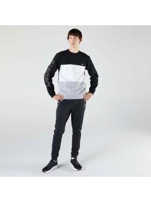 Sweatshirt Lacoste SH6904 NUA Noir Blanc Gris color Multicouleur