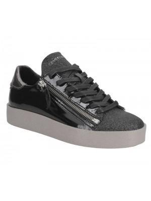 Crime London Sneaker Low platform black patent 25923A17 20